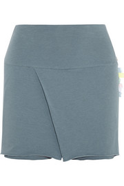 Sari folded stretch-jersey shorts