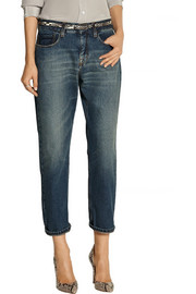 Slouch cropped mid-rise boyfriend jeans