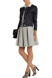 Victoria Beckham Denim Denim and boiled wool-blend jacket