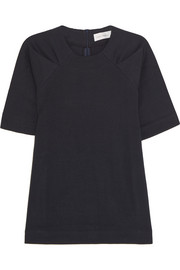 Victoria Beckham Denim Tuck cotton-blend top