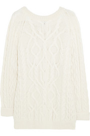 McQ Alexander McQueen Oversized cable-knit wool-blend sweater