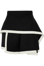 McQ Alexander McQueen Layered stretch-wool mini skirt