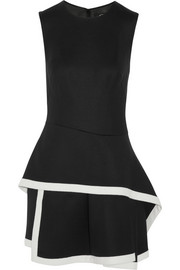 McQ Alexander McQueen Layered stretch-wool mini dress