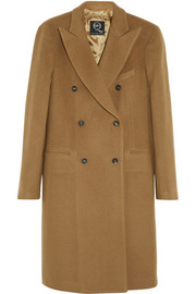 McQ Alexander McQueen Double-breasted brushed wool-blend coat