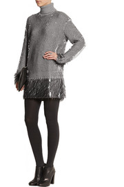McQ Alexander McQueen Paillette-embellished wool sweater dress