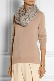 Missoni Metallic crochet-knit mohair-blend snood