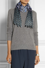 Missoni Scalloped crochet-knit scarf