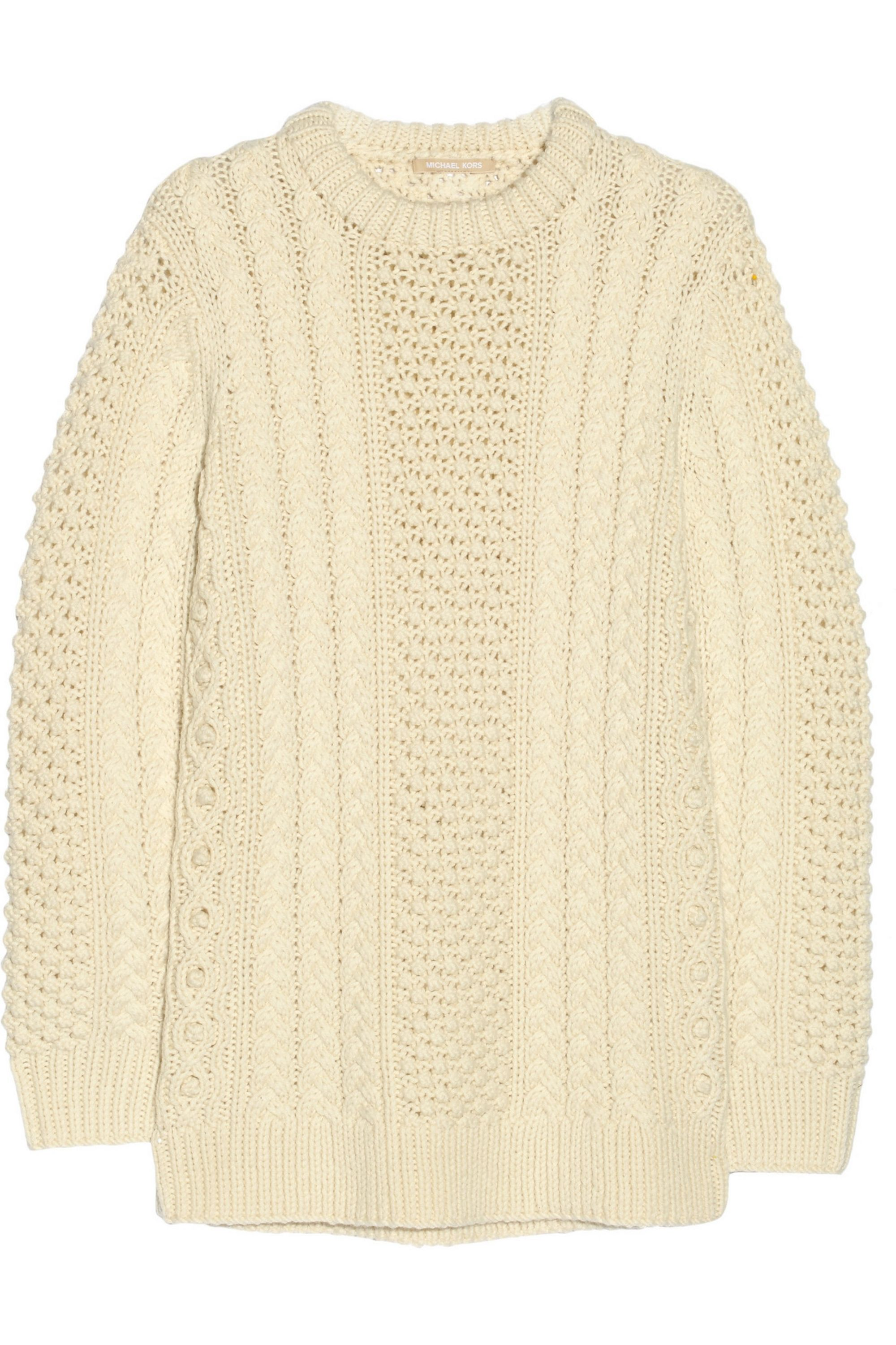 Cream Cable Knit Merino Wool Sweater Michael Kors Collection Net A Porter