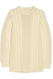 Michael Kors Cable-knit merino wool sweater