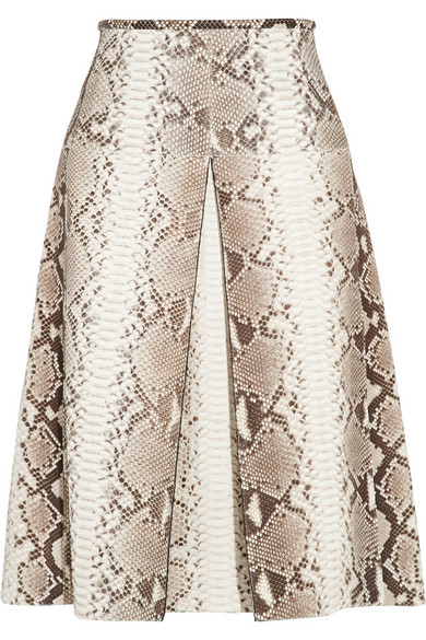 Michael Kors Collection | Pleated python skirt