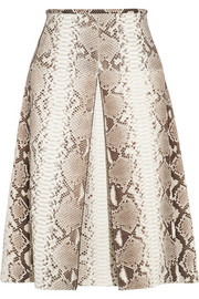 Michael Kors Pleated python skirt