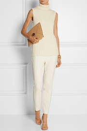 Michael Kors Ribbed-knit cashmere turtleneck sweater
