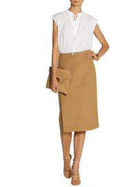 Michael Kors Silk-crepe top