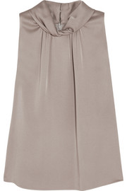 Michael Kors Satin-charmeuse top