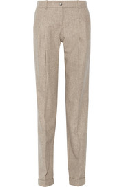 Michael Kors Mélange wool and cashmere-blend tapered pants