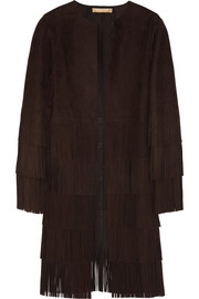Michael Kors Fringed suede coat
