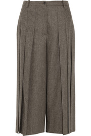Michael Kors Pleated stretch-wool culottes