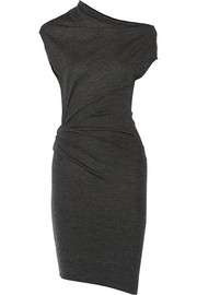 Sonar asymmetric wool dress