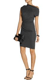 Helmut Lang Sonar asymmetric wool dress
