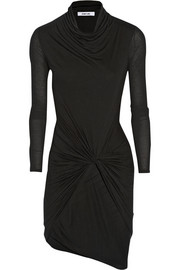 Wrap-effect Micro Modal-jersey dress