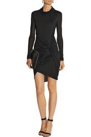 Helmut Lang Wrap-effect Micro Modal-jersey dress