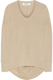 Helmut Lang Draped stretch-jersey top