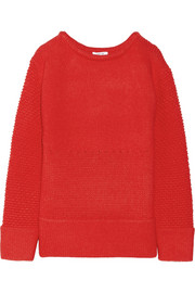 Helmut Lang Paneled wool-blend sweater