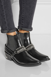 Toga Embellished leather Chelsea boots