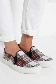 Markus Lupfer Plaid canvas slip-on sneakers