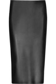 Alexander McQueen Leather pencil skirt