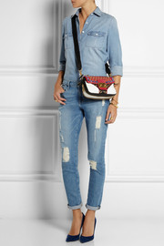 Miu Miu Biker Swarovski crystal-embellished leather shoulder bag