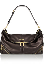 Miu Miu Biker oversized leather shoulder bag