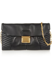 Miu Miu Biker quilted leather shoulder bag