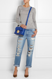 Miu Miu Madras leather shoulder bag