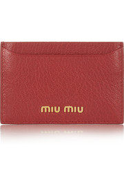 Miu Miu Madras textured-leather cardholder