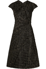Bottega Veneta Frayed quilted organza dress