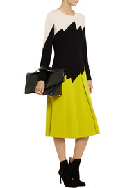 Bottega Veneta Color-block crepe dress