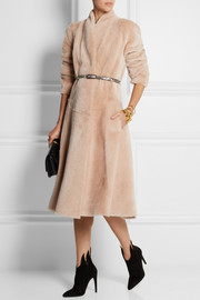 Bottega Veneta Flared shearling coat