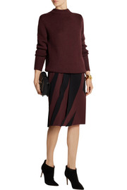 Bottega Veneta Paneled crepe skirt