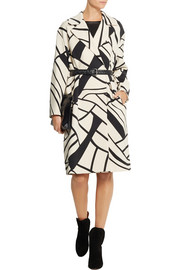 Bottega Veneta Printed wool-crepe coat