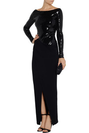 Donna Karan Sequined stretch-jersey gown