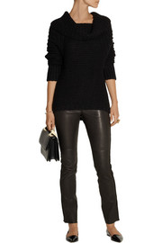 Donna Karan Alpaca, silk, cashmere and wool-blend sweater