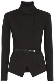 Donna Karan Belted stretch wool-blend jacket