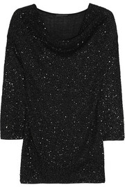 Donna Karan Draped embellished cashmere top