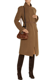 Donna Karan Belted wool-blend coat