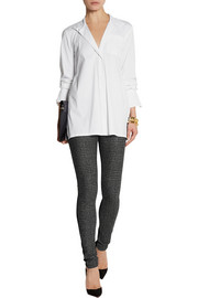 Donna Karan Oversized stretch cotton-blend shirt