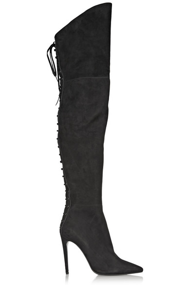 4279f25e5cd Miu Miu. Suede over-the-knee boots