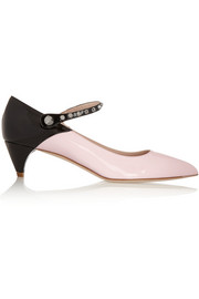 Miu Miu Two-tone patent-leather pumps