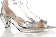 Miu Miu Metallic leather T-bar sandals