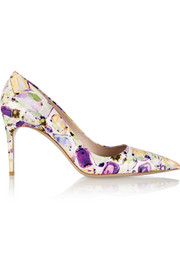 Miu Miu Jewel-print patent-leather pumps